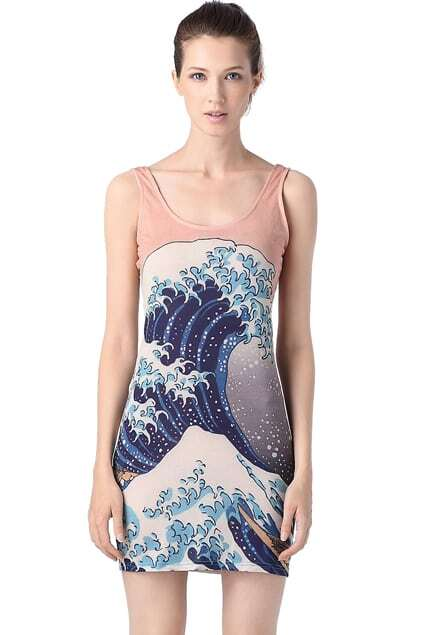 Big Wave Bodycon Dress