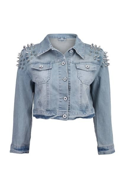 Rivets Detailed Cropped Coat