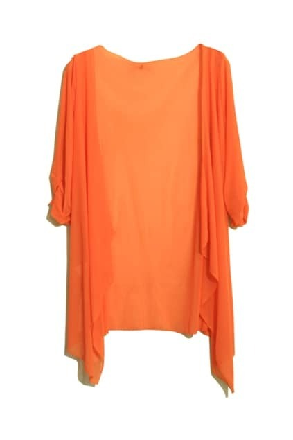Anomalous Cut Orange Coat