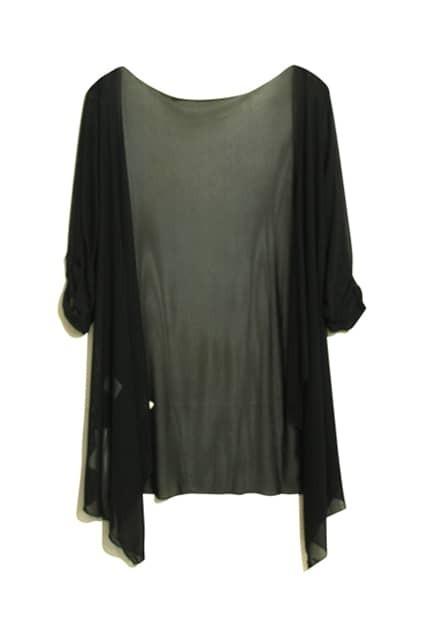 Anomalous Cut Black Coat