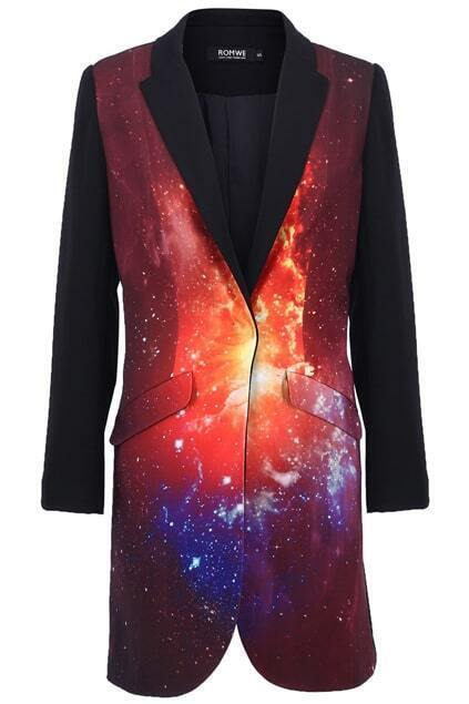 Burning Fire Print Coat