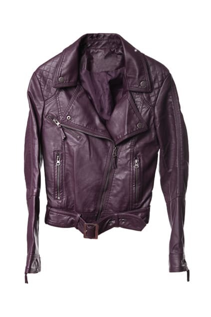 Punk Large Lapel Dark-purple Leather Jacket