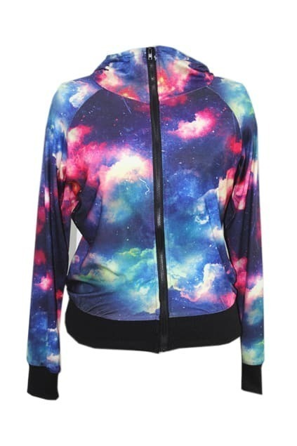 Star Pattern Red Burining Clouds Coat