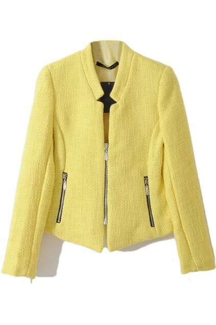 Yellow Main Zip Coat