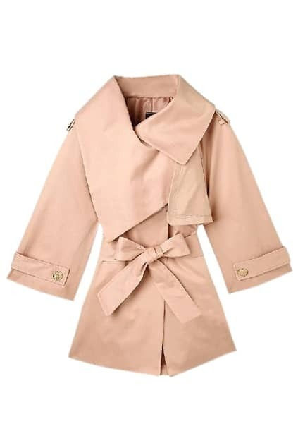 Cape Style Pink Trench Coat