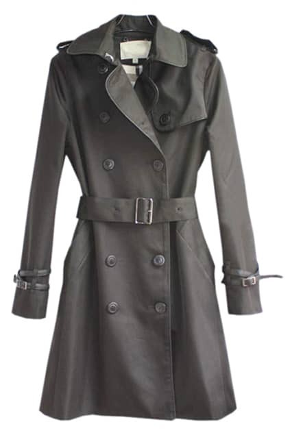Double-breasted Black Trench Coat