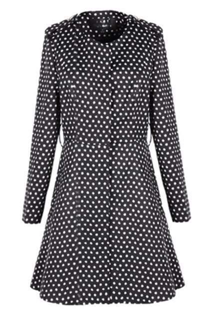 Dots Print Slim Trench Coat