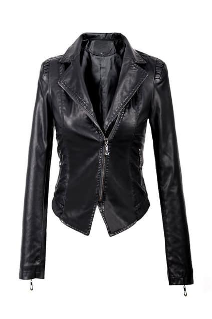 Brief Slim Fit Biker Jacket
