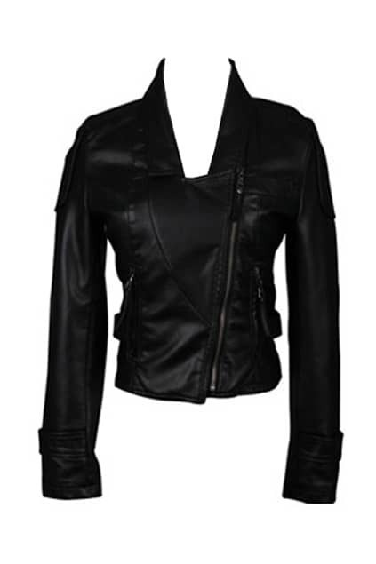 Slim Cut Black Motorcycle Jacket