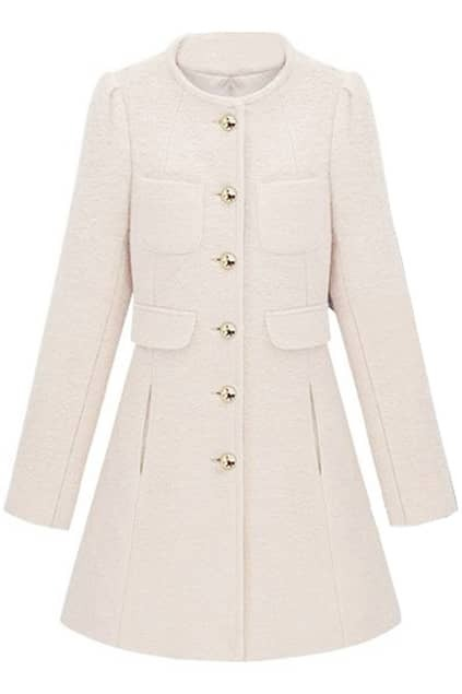 Single Breasted White Coat