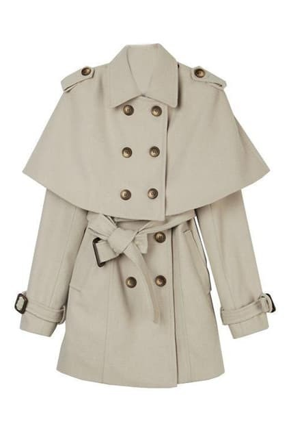 New Style Double Breasted Cream Coat