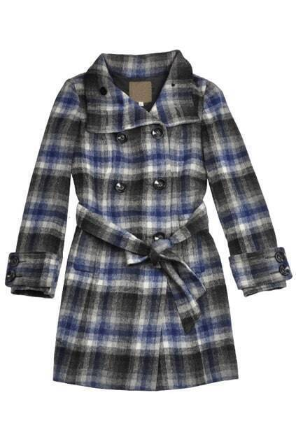 Double Breasted  Lapel Woolen Coat