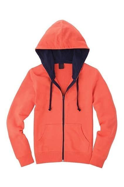 Orange And Dark Blue Montage Hoodie