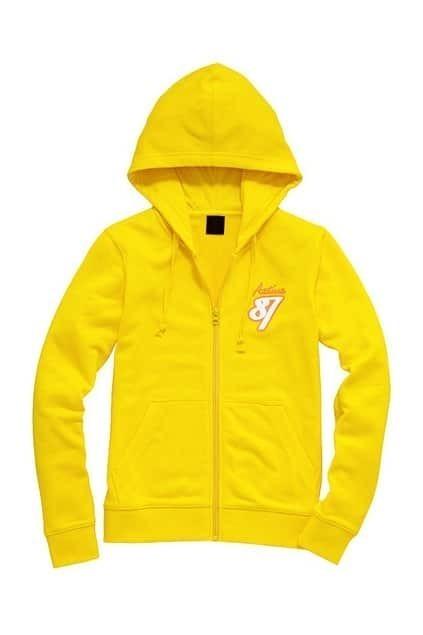 87 Printed Yellow Hoodie