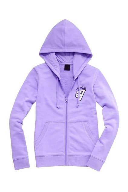 87 Printed Purple Hoodie