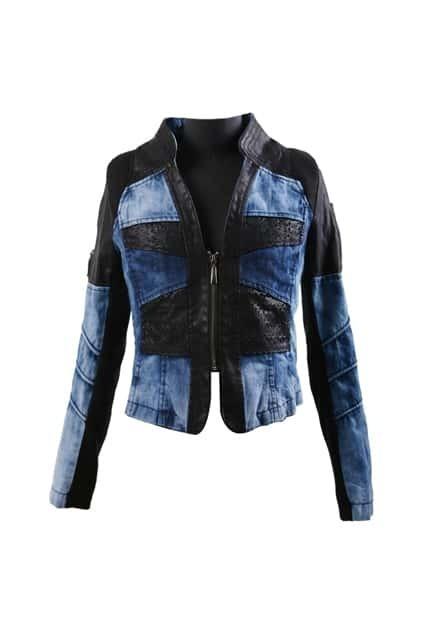 Band Collar Slim Blue Coat