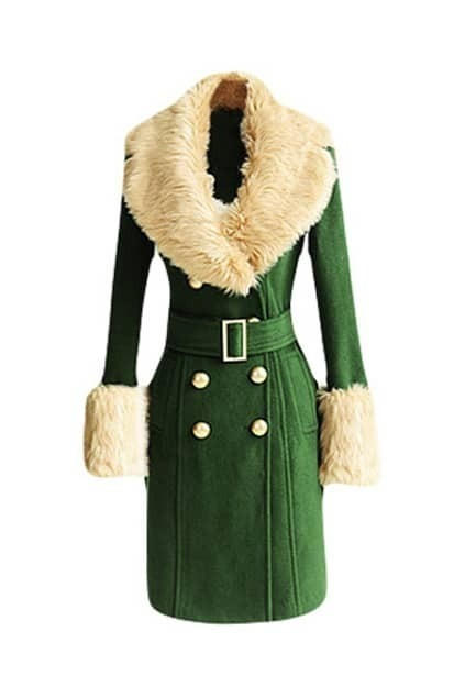 Army Green Woolen Coat