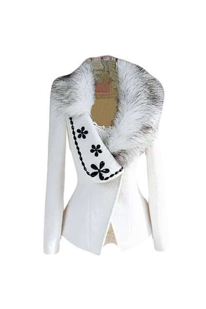 Black Diamond Flowers White Coat
