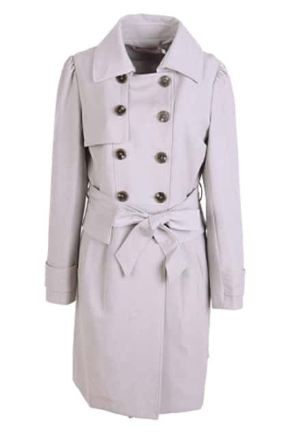 Double Breasted Grey Trench Coat