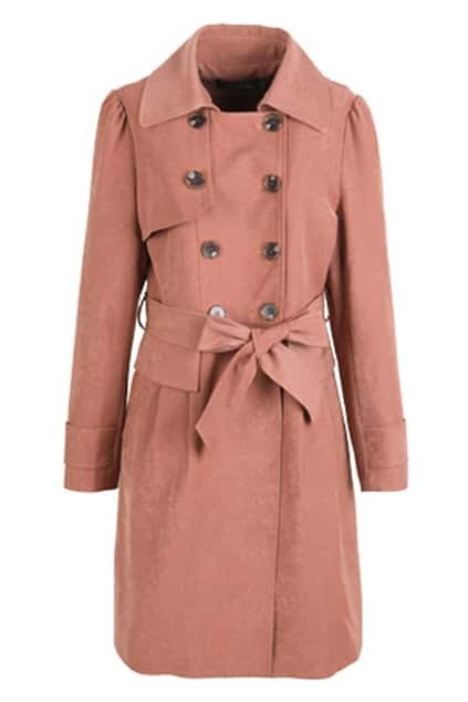 Double Breasted Camel Trench Coat