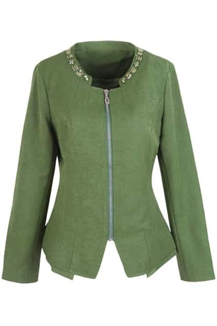 Manual Diamonds Green Coat