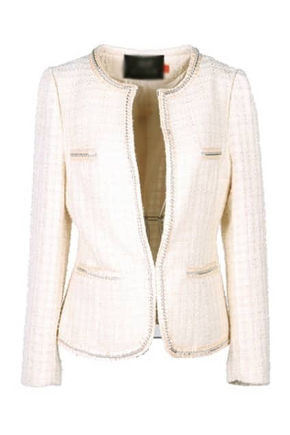 Metal Chains Cream Short Coat