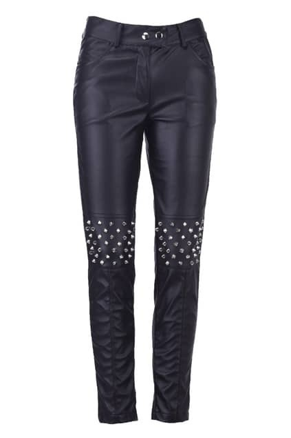 Rivets Detailed Knee Pants