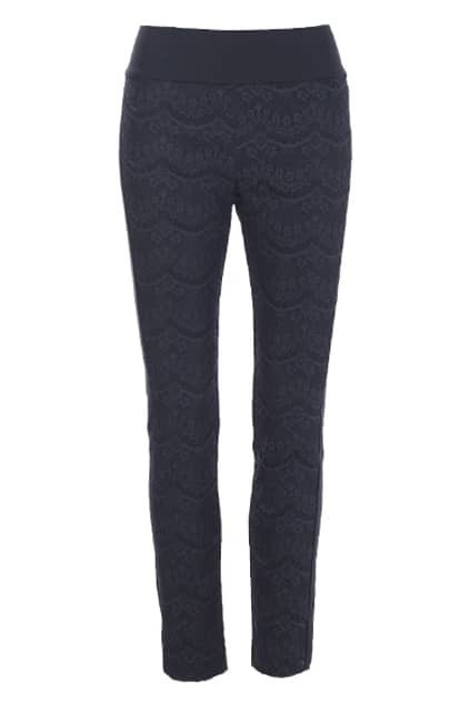 Lace Overlay Black Pants