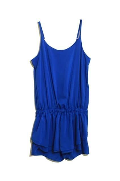 Sleeveless Blue Jumpsuits