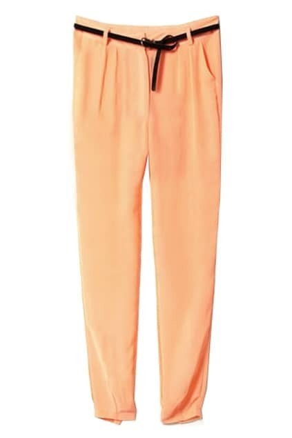 Semi-Sheer Chiffon Orange Pants