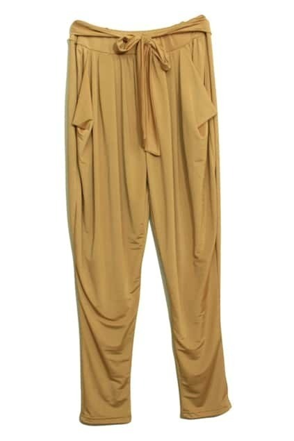 Pleat Dark Yellow Harem Pants