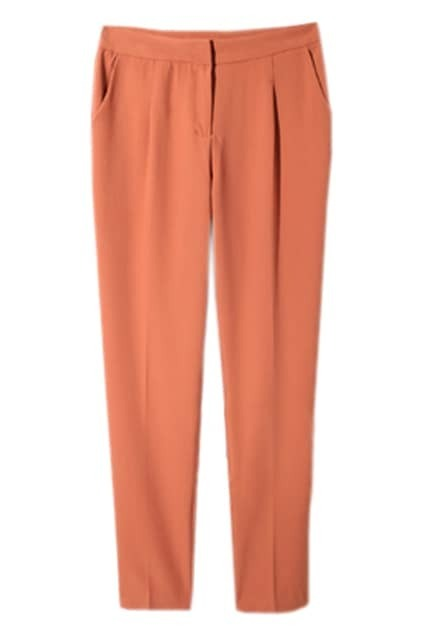 Orange Main Slim Bell-Botton Pants