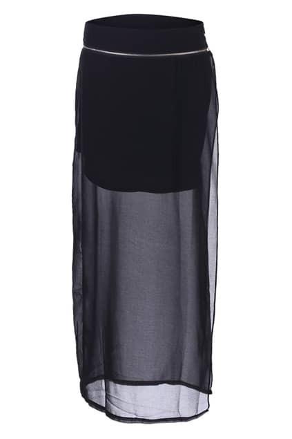 Split Side Ziped Skirt