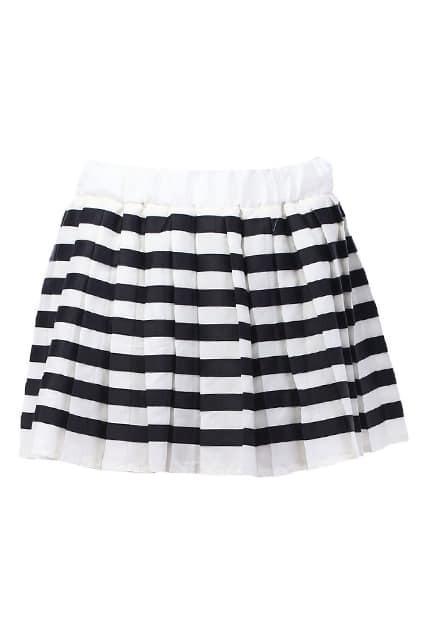 Striped Skater Skirt