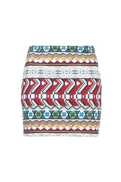 Geometrical Patterning Body-conscious Skirt