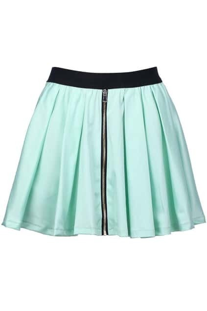 Ziped Mint Skirt