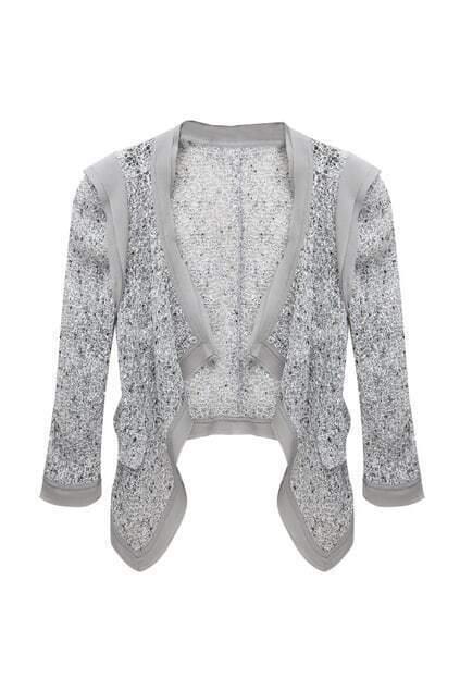 Asymmetric Sheer Mesh White Suit