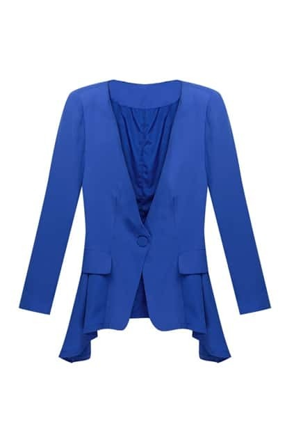 One Button Blue Blazer