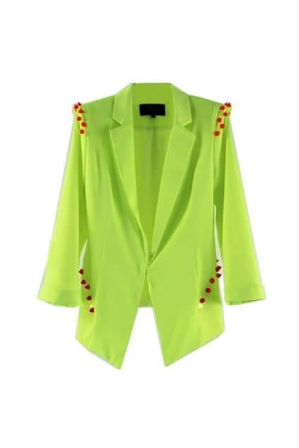 Rivet Shoulder Deon Green Blazer