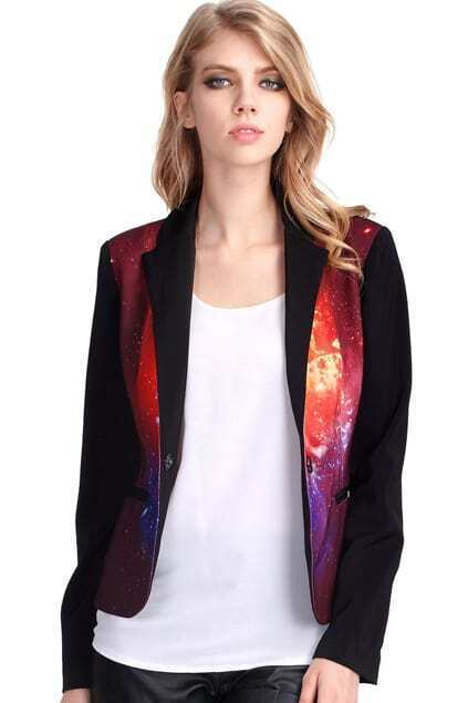 Burning Fire Print Blazer