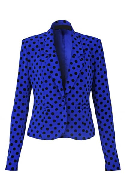 Shoulder Pads Dots Blue Suit