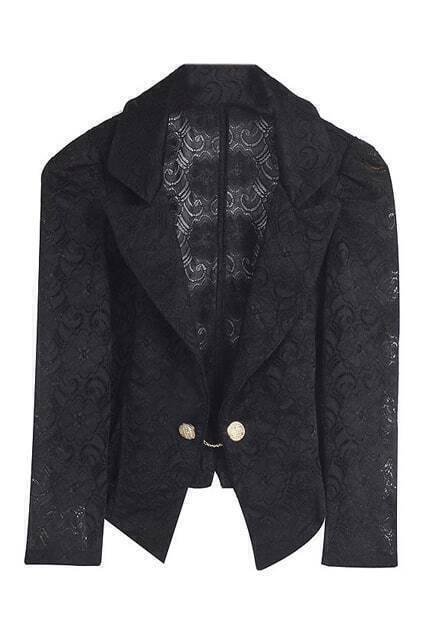 Lace Black Blazer