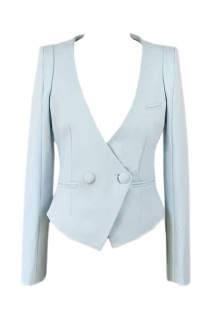 Double Button Light Blue Blazer