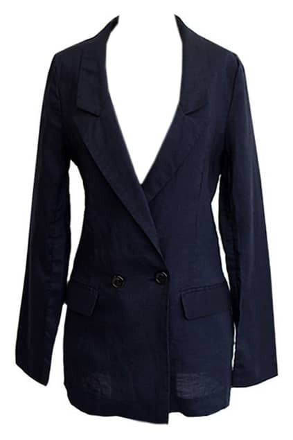 Pocket Button Dark Blue Blazer