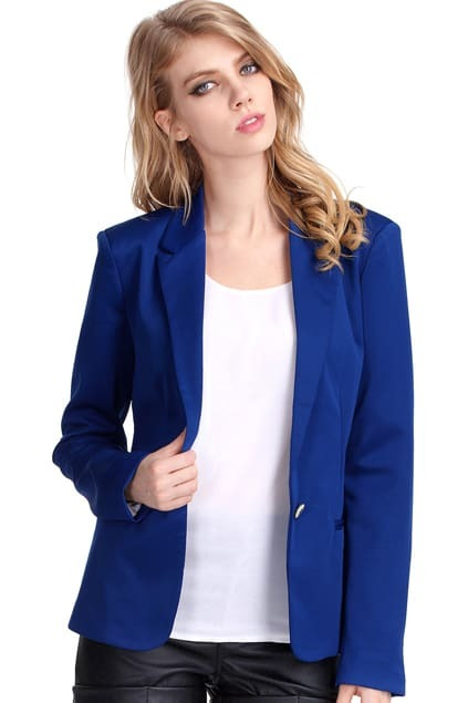 Single-breasted Blue Blazer
