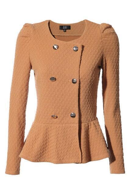 Flared Hem Light Orange Coat