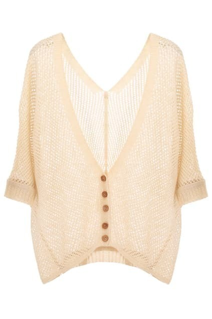 V-neck Cropped Cardigan