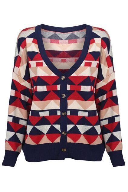 Geometric Pattern Cardigan