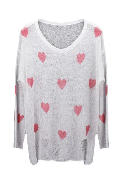 Hearts Print Jumper