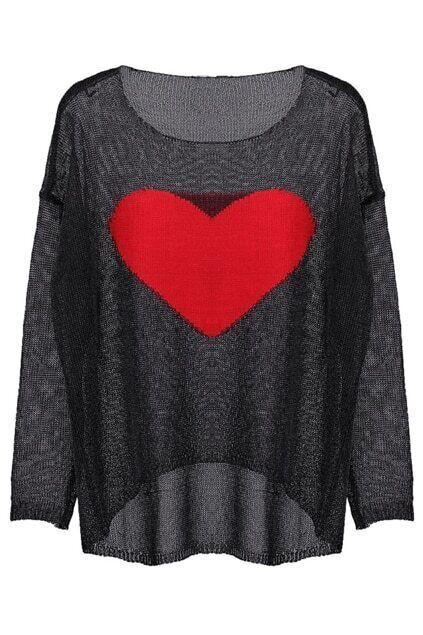 Sweetheart Black Jumper